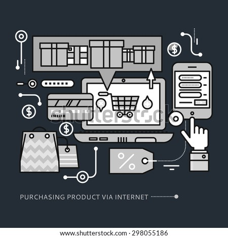 concept of purchasing  delivery