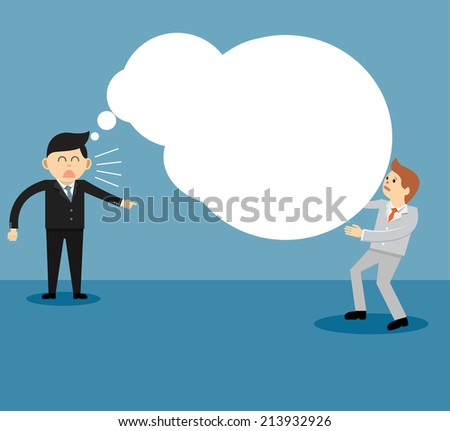 Concept of reproach with businessman