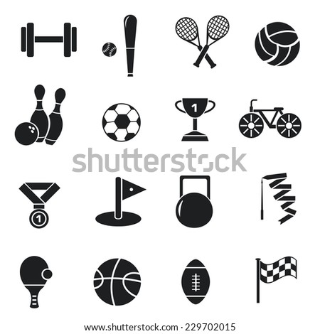 Concept of set lifestyle sports equipment flat icons backgrounds. vector illustration design  for web and mobile template