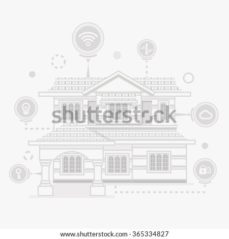 concept of smart home and