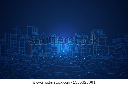 concept of smart or digital