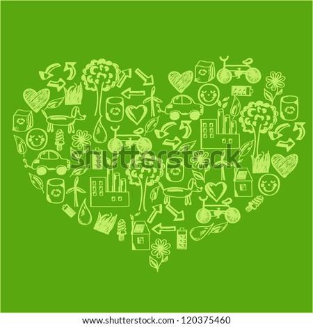 Concept of sustainable, eco, green development