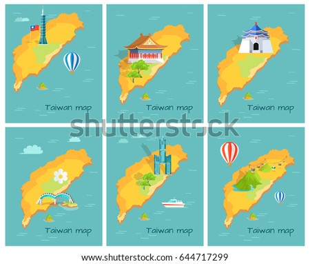 concept of taiwan map in
