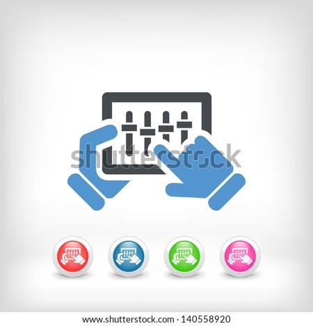 Concept of touchscreen mixer icon