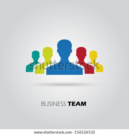 Concept of union, team, leadership, group, community. Vector illustration