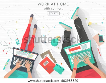 concept of working at home