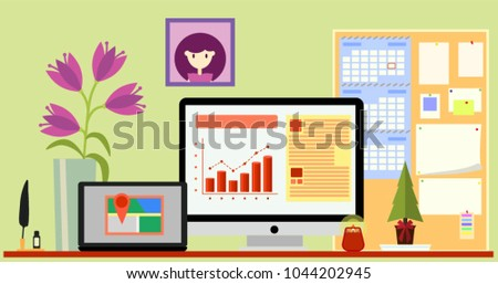 concept of workplace with