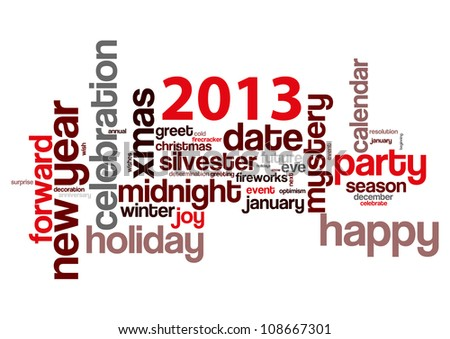 Concept of 2013 year theme