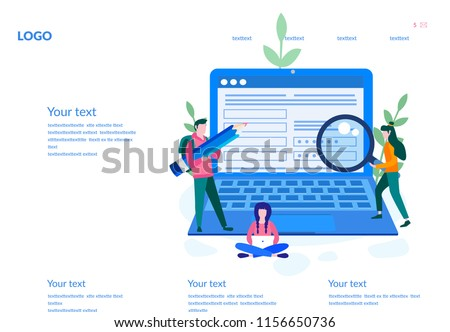 Concept people fill out a form, application form for employment. people select a resume for a job for web page, presentation, social media, documents. Vector illustration employee writes a summary