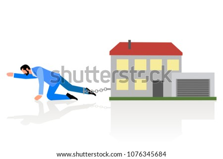 concept picture of man crawling