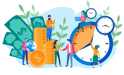 Concept save time, Money saving. Times is money. Business and management, time is money, financial investments in stock market future income growth, Time management planning, Deadline.