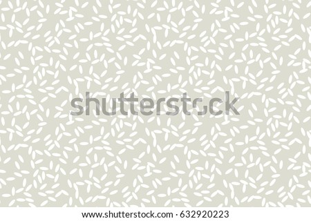 Shutterstock Concept simple rice grain pattern on light background. Vector illustration for background, fabric, wrapping paper, print and web with traditional wealth and happiness symbol