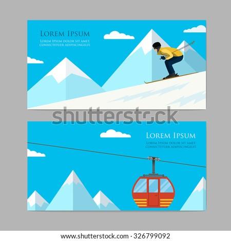 concept skiing winter sport