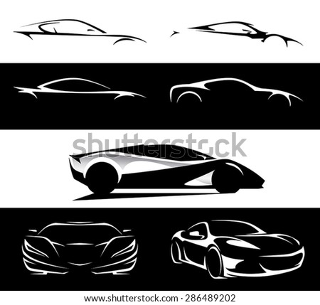 concept super car silhouette