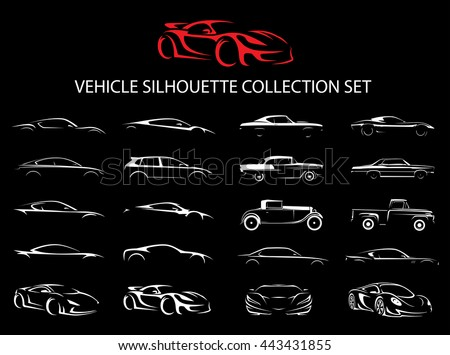 Black Outline Vector Cars Download Free Vector Art Stock