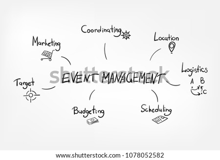 concept vector lettering business event management