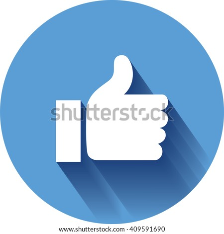 Concept vector-  stylish social media like hand icon(Symbol). The illustration shows a shiny like sign or icon used in social media websites like. new icon