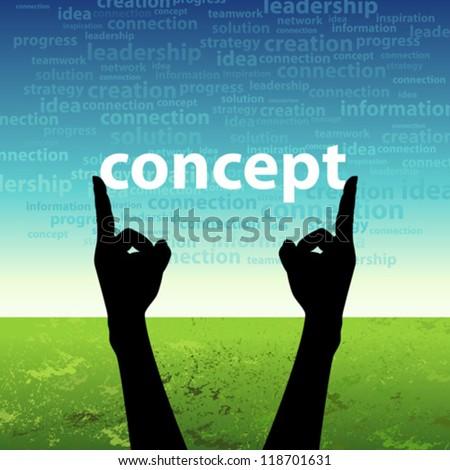 concept word in hands