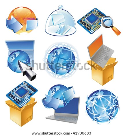 Concepts for IT-business, technology and worldwide web. Vector illustration.