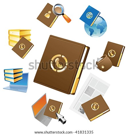 Concepts for personnel data and business contacts. Vector illustration.