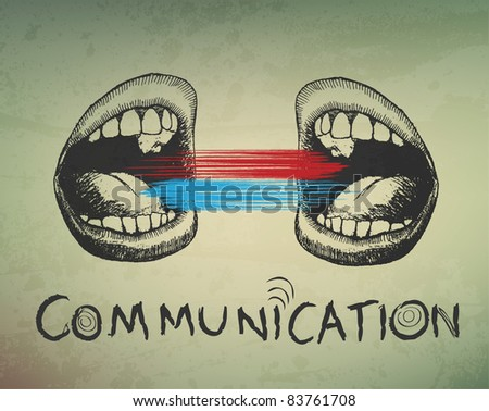 Conceptual abstract background. Communication