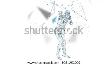 conceptual abstract man is