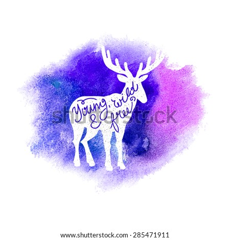 conceptual deer silhouette with