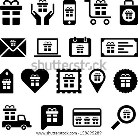 Conceptual Gift icons
