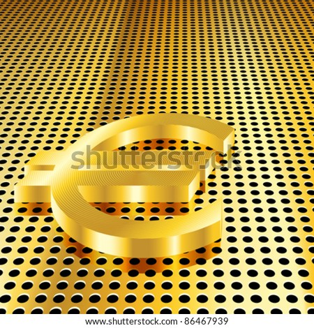 Conceptual gold euro background (EPS10 - Gradient, Transparency, Mesh)