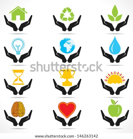 conceptual hand icon with