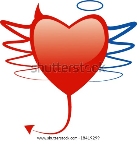 Angel Devil Heart Symbol