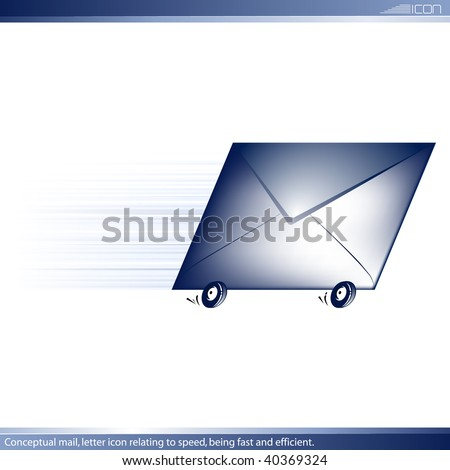 Conceptual icon letter for delivery fast and efficient. Vector.