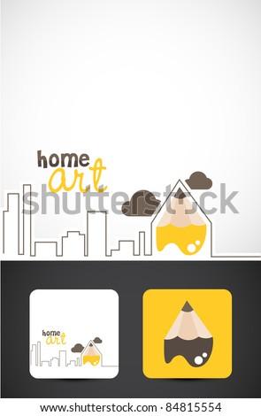 Conceptual illustration for Home art design, Vector EPS10.