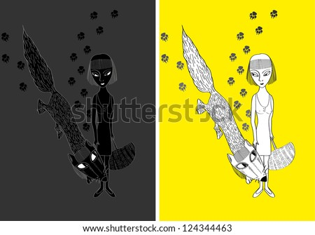 conceptual illustration with a