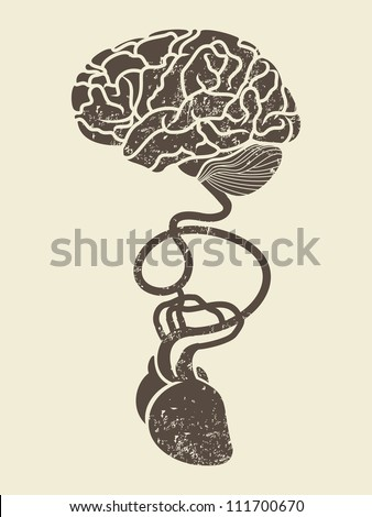 conceptual image of brain and