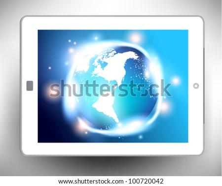 conceptual modern earth globe vector design