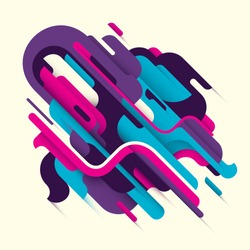 Conceptual modern style illustration with abstraction. Vector illustration.