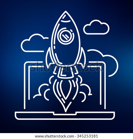 conceptual rocket launch icon