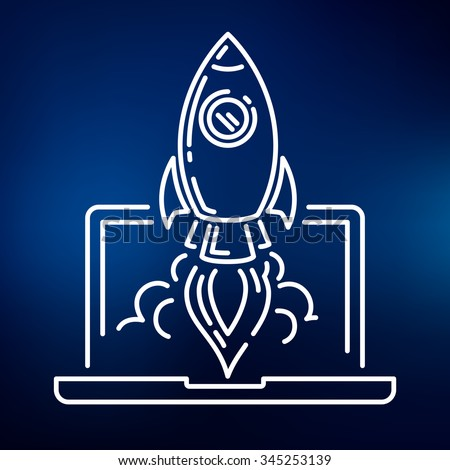 conceptual rocket launch icon