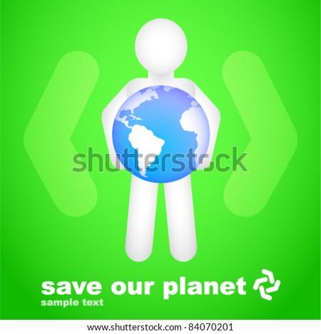 Conceptual Save Our Planet Design