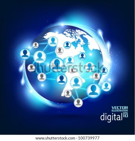 conceptual social network vector design