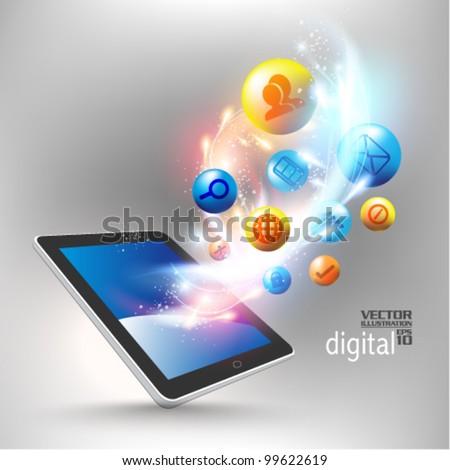 conceptual social networking graphic design