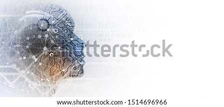 Conceptual technology illustration of artificial intelligence. Abstract futuristic background Stockfoto ©