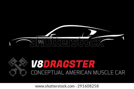 conceptual v8 dragster muscle