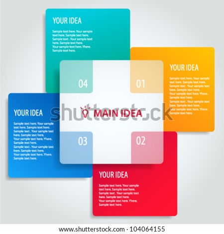 Conceptual vector illustration of colorful banners with place for your text. Usable for different business design