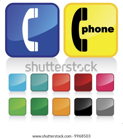 Conceptual vector illustration of phone sign - check my gallery for more. proposed colors