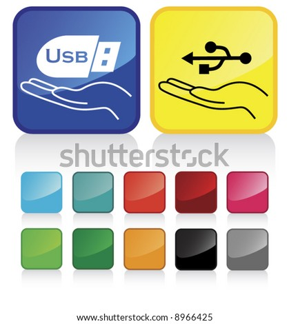 Conceptual vector illustration of USB  sign web2.0 - part 1 - check my gallery for more. proposed colors