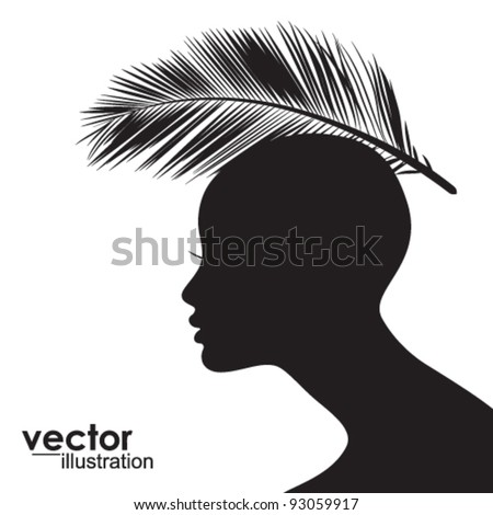 Conceptual Woman  face  silhouette