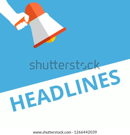 Conceptual writing showing Headlines. Vector illustration