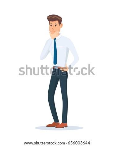 concerned businessman cartoon